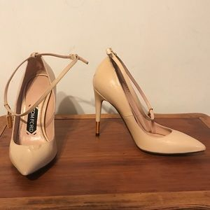 Tom Ford Padlock ankle wrap pumps